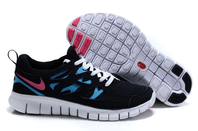 fa58cc45c176 Nike Free Run 2 Black Bright Turquoise White Laser Pink Women s Running  Shoes  fashion  sneakers