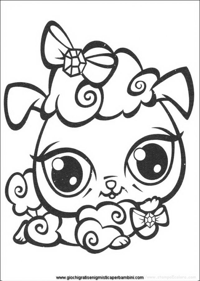 lil pet shop coloring pages | Cute animals coloring pages of Littlest Pet Shop free to ...