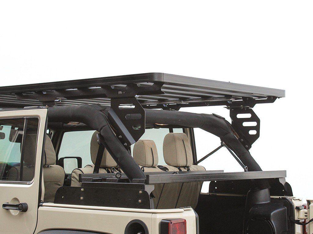Jeep Wrangler Jku 4 Door 2007 2018 Extreme Roof Rack Kit By Front Runner Jeep Jeep Wrangler Roof Rack