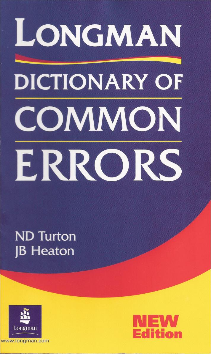 Longman E Book Dictionary Of Common Errors By N D Turton J B Heaton Escuela Oficial De Idiomas Libros Cursillo