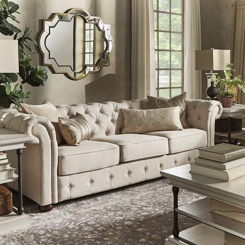 Best Found It At Allmodern Toulon Tufted Button Sofa Tufted 640 x 480