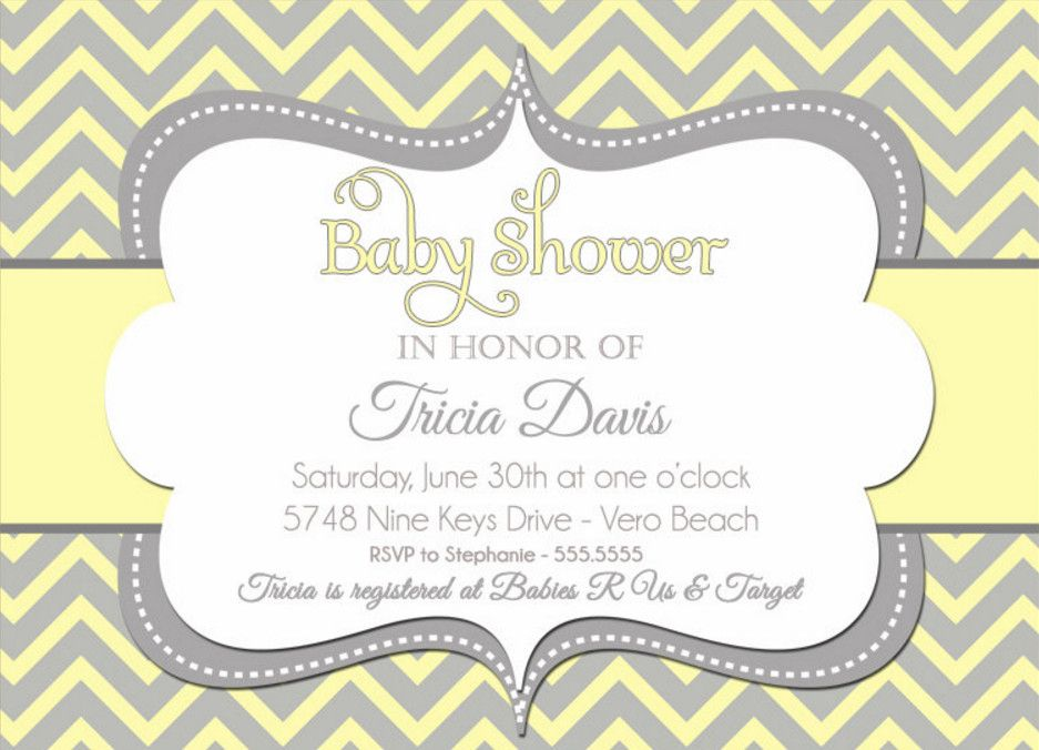 Elegant Gender Neutral Baby Shower Invitations