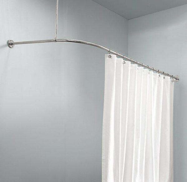 corner shower curtain rod ikea | bathrooms | Pinterest | Shower ...