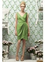 Glamour Satin Clover Green Bridesmaid Dresses AX02500