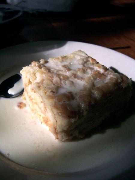 The Grape Vine White Chocolate Bread Pudding