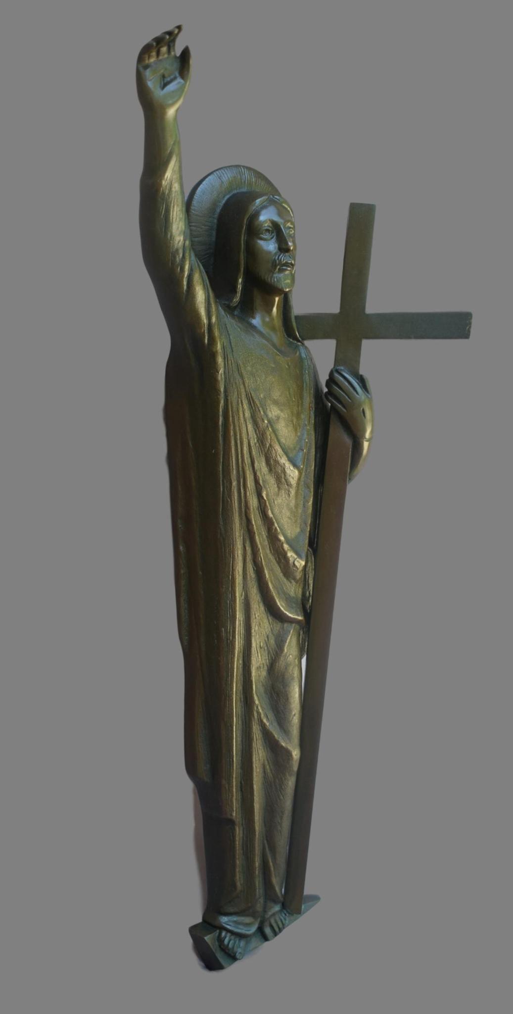 Art Deco Bronze Jesus Statue Jesus Statue Art Statue