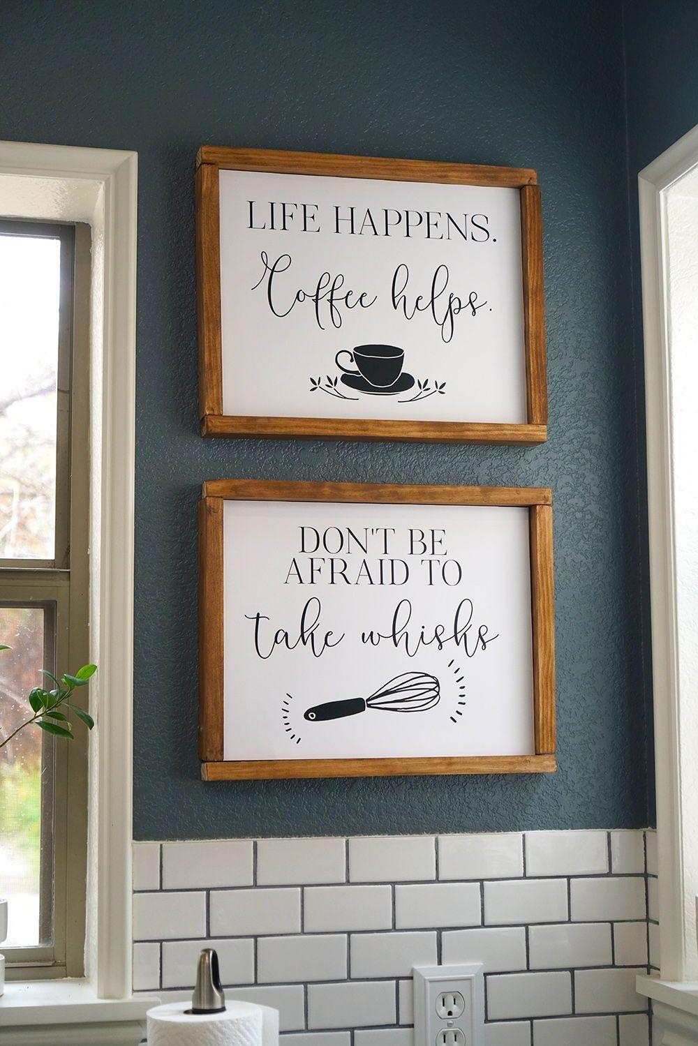 Funny Kitchen Wall Art Printable Life Happens Coffee Helps Etsy Kitchen Wall Art Printables Kitchen Wall Art Kitchen Decor Signs