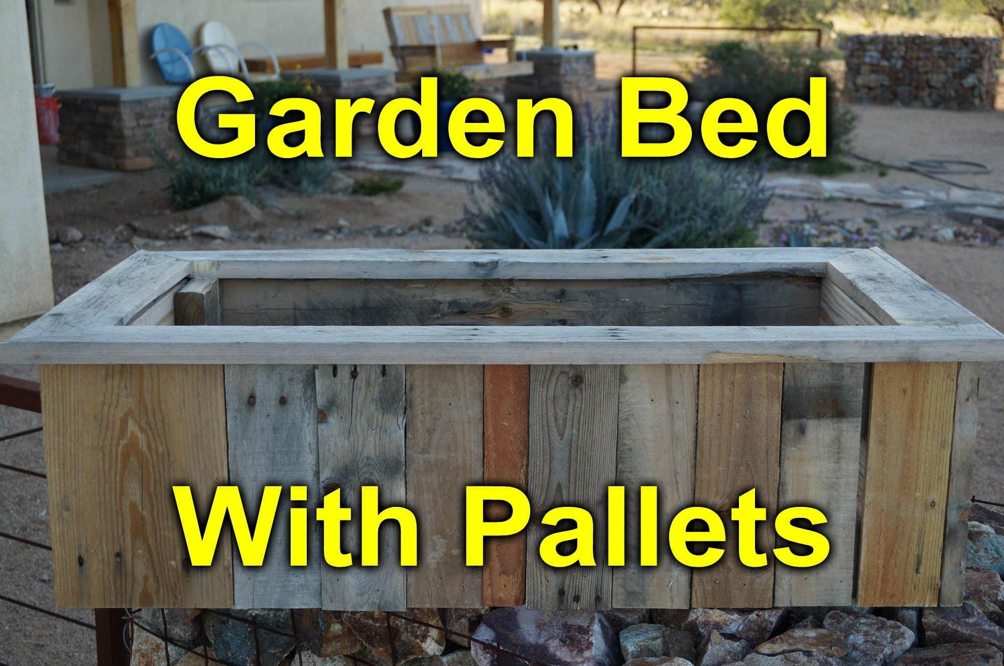 Rustic Garden Bed Built with Pallet Wood. This has no base ...