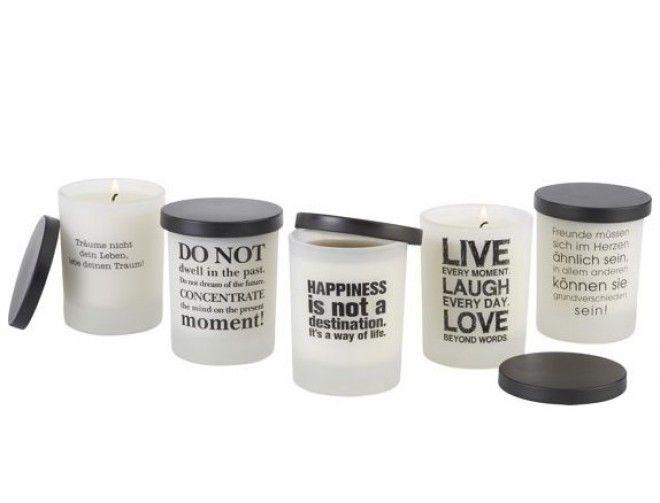 Dekorativne svečke s pozitivnimi sporočili (Foto: mömax)