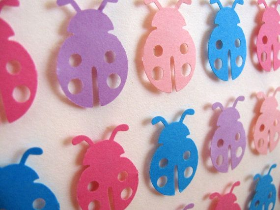 INVENTORY CLEARANCE Sale 3D Ladybug Whimsy Collage. Purple. Turquoise. Fuschia. Blush Pink. 5X7 inches on Etsy, $10.89 CAD