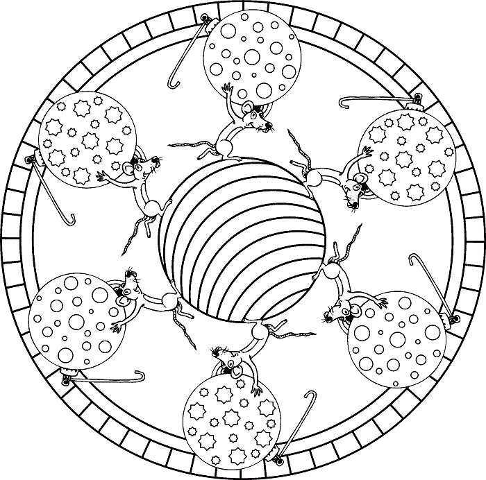 Mandala Da Colorare Per Bambini Topolini E Formaggio Labirintie