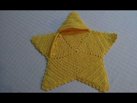 Capullo estrella tejido en crochet facil y rapido. - YouTube ...