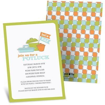 Let S Dish Potluck Invitations Paper Invites So Much More