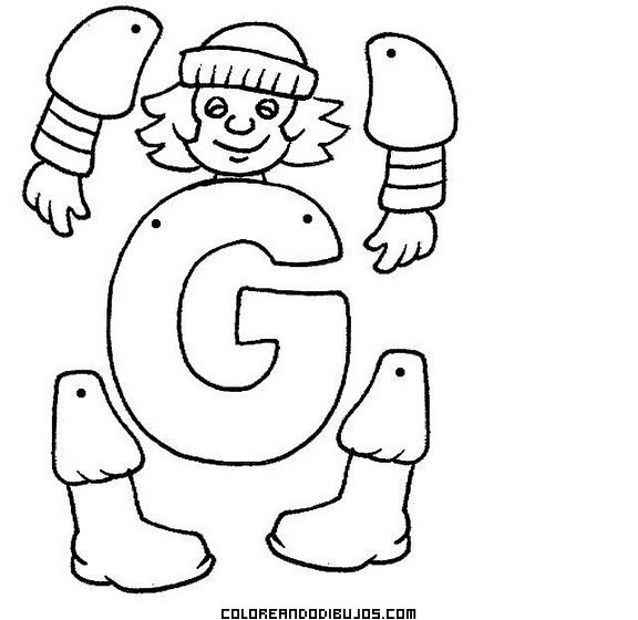 Letra G para recortar, colorear y armar | Abecedarios | Pinterest ...