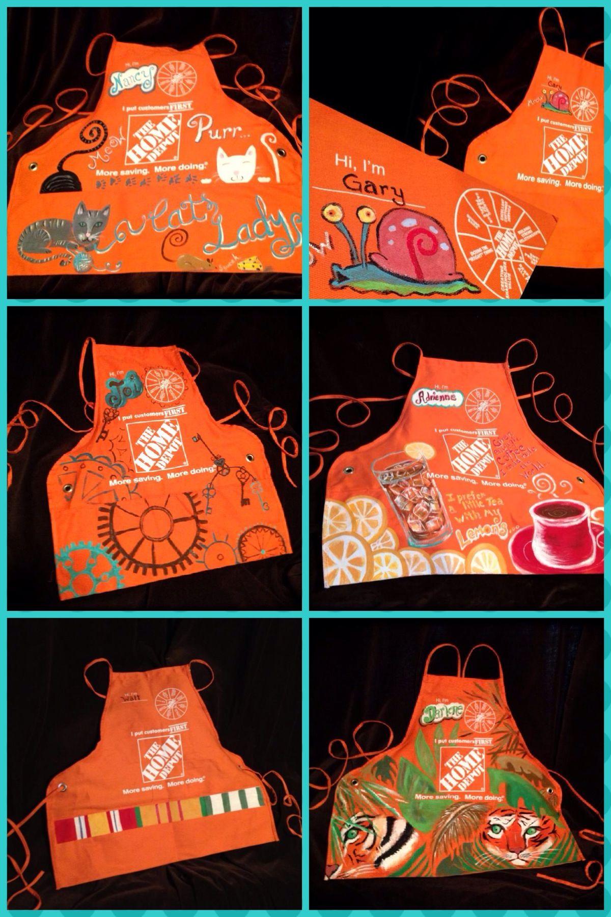 Home Depot apron Art Pinterest