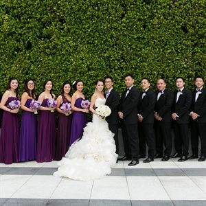 Chic Purple Wedding Party Different Shades Of Purple Is A Cool
