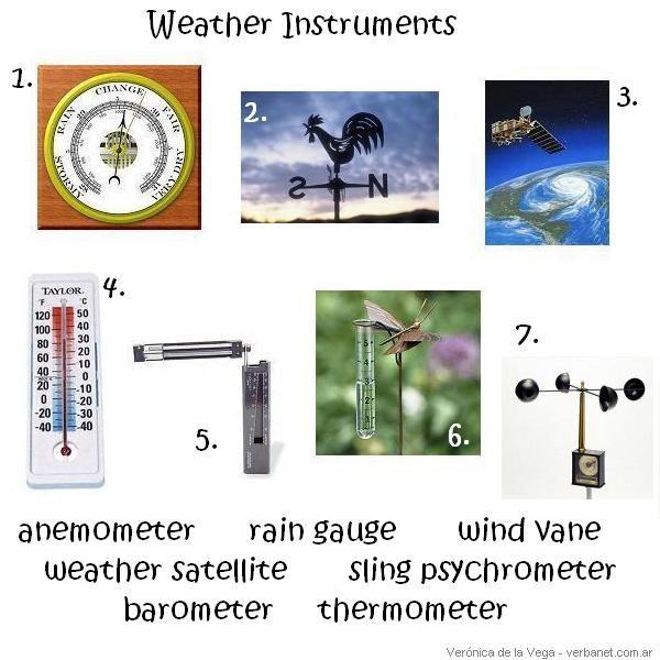 Weather Wiz Kids Weather Information For Kids Weather Instruments Weather Satellite Weather Tools Weather tools worksheet