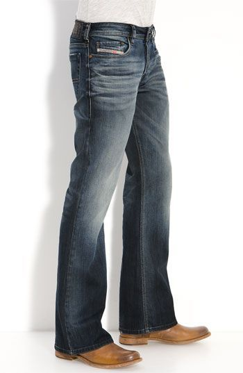 818d26ab69a This represents a boot-cut silhouette because boot-cut jeans will normally  taper to the knee and then slightly flare out to accommodate a boot.