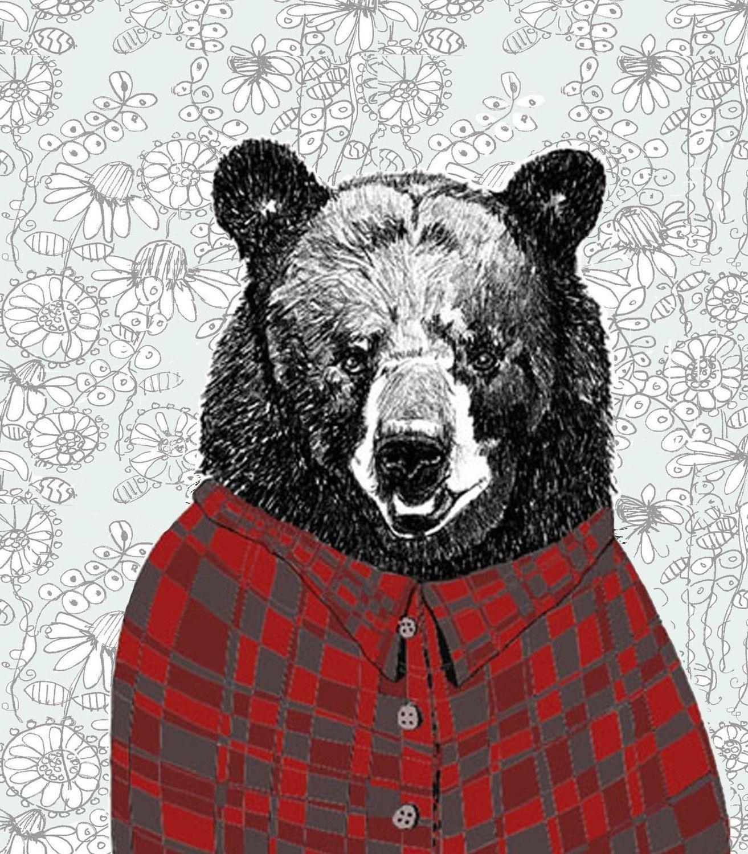 Bears Love Flannel Shirts Wallpaper