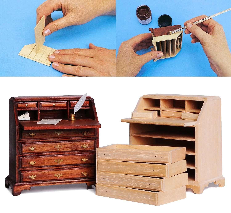 m belbau leicht gemacht basteln puppenhausm bel pinterest miniatur puppenstube und. Black Bedroom Furniture Sets. Home Design Ideas