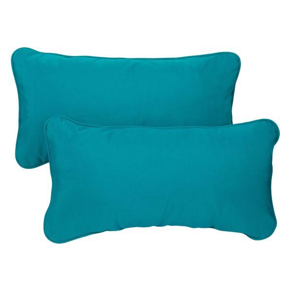 outdoor lumbar pillows sunbrella canada teal corded indoor fabric set cheap