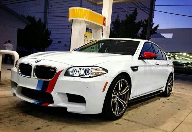 Bmw F10 M5 White With M Stripe Bmw Bmw Love Bmw 5 Series