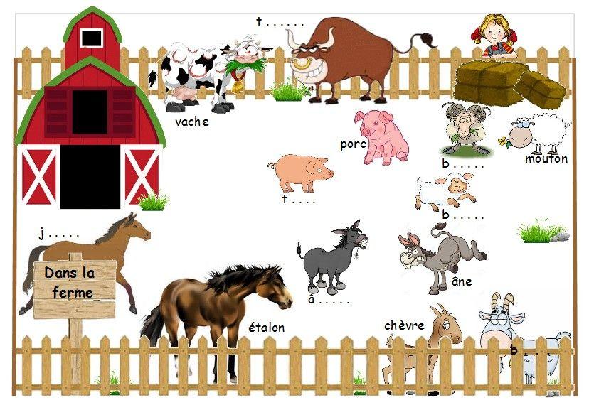Les animaux de la ferme planches d couper imprimer - Images d animaux de la ferme ...