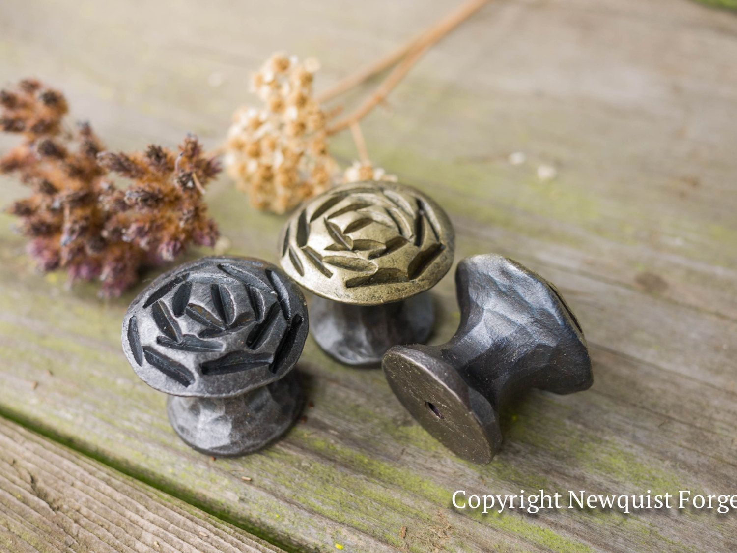 Charmant Housewarming Rose Iron Drawer Knobs, Rustic Cabinet Hardware Cabinet Knobs, Kitchen Hardware, Metal Knobs N Pulls, Wrought Iron Pulls