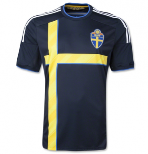 caf3f2c47 SWEDEN National team 2014 AWAY SOCCER JERSEY  1405111638