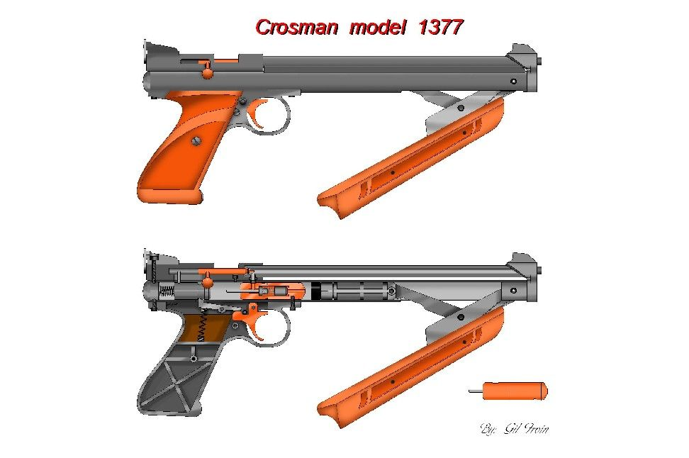 Crosman 1377 Classic cut away