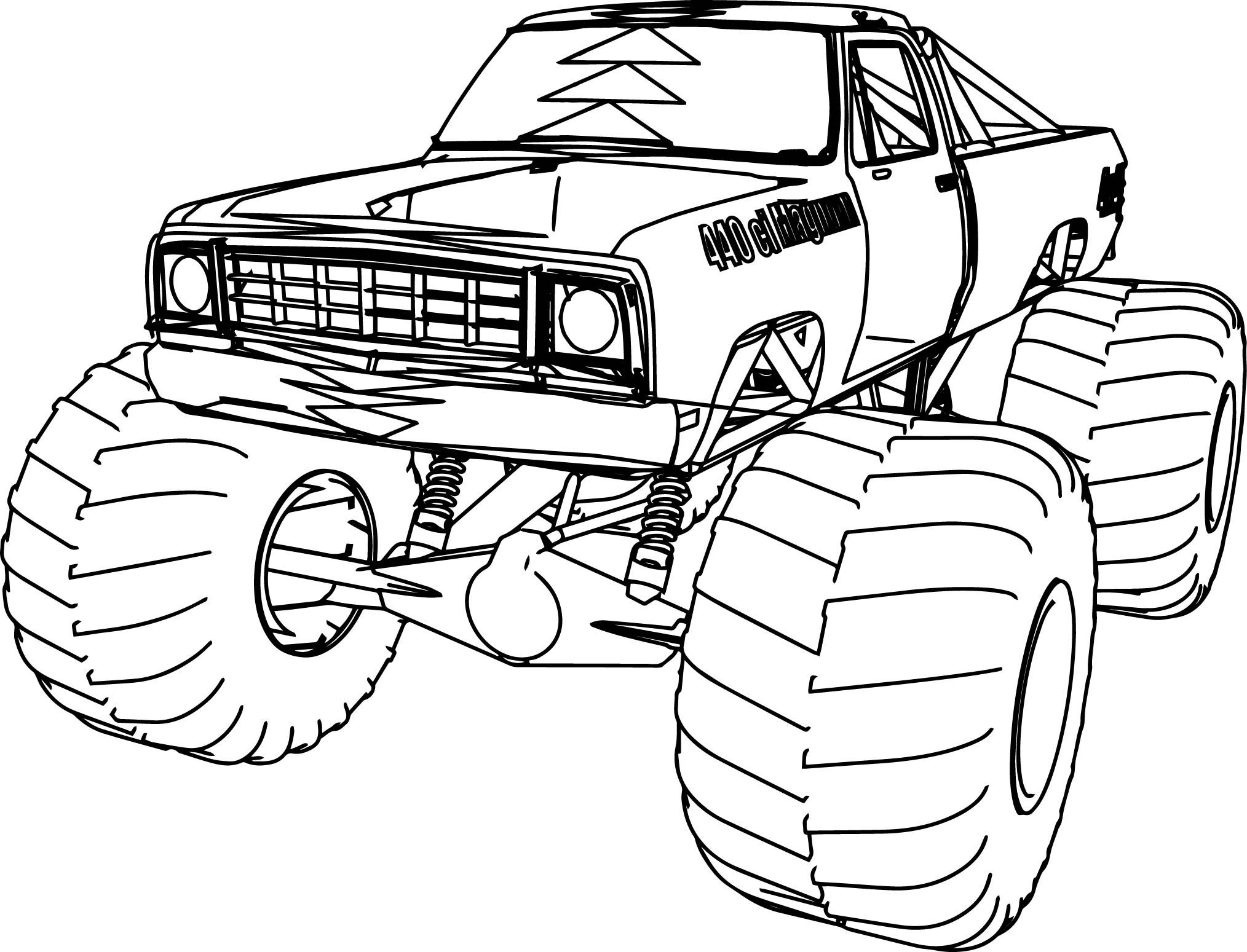 cool 9 Dodge Monster Truck 9x9 Coloring Page  Truck coloring