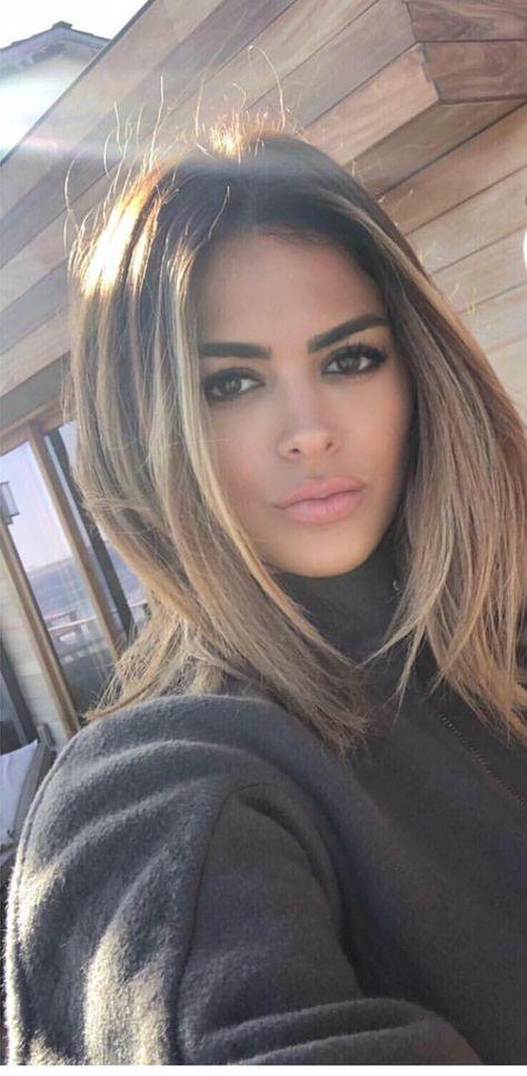 Hair brunette straight highlights haircuts 22 Idea