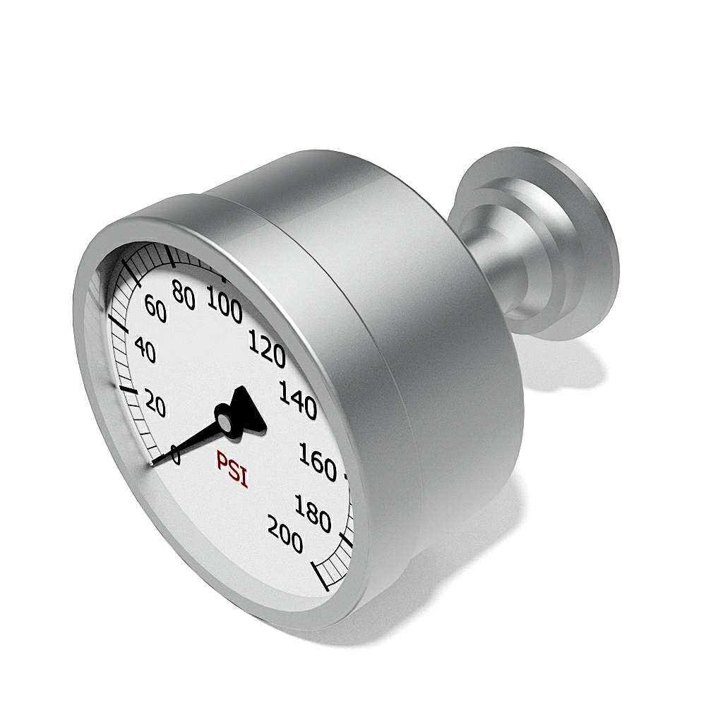 Pressure gauges ASME BPE triclamp connection rear side