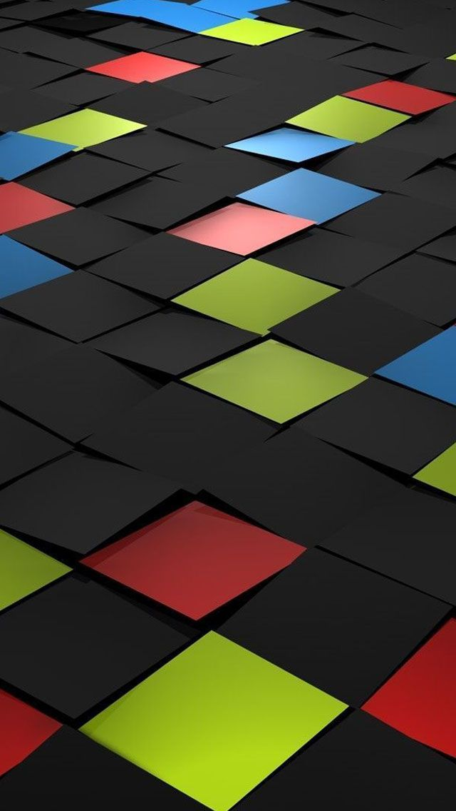 Tiles 3d IPhone 5s Wallpaper
