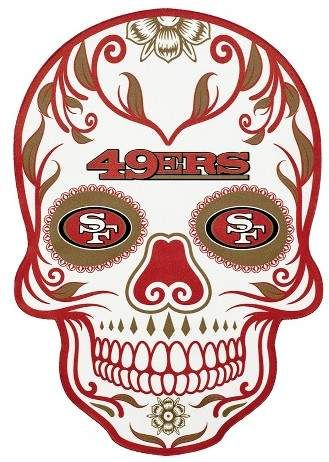 NFL San Francisco 49ers Large Outdoor Skull Decal Skull
