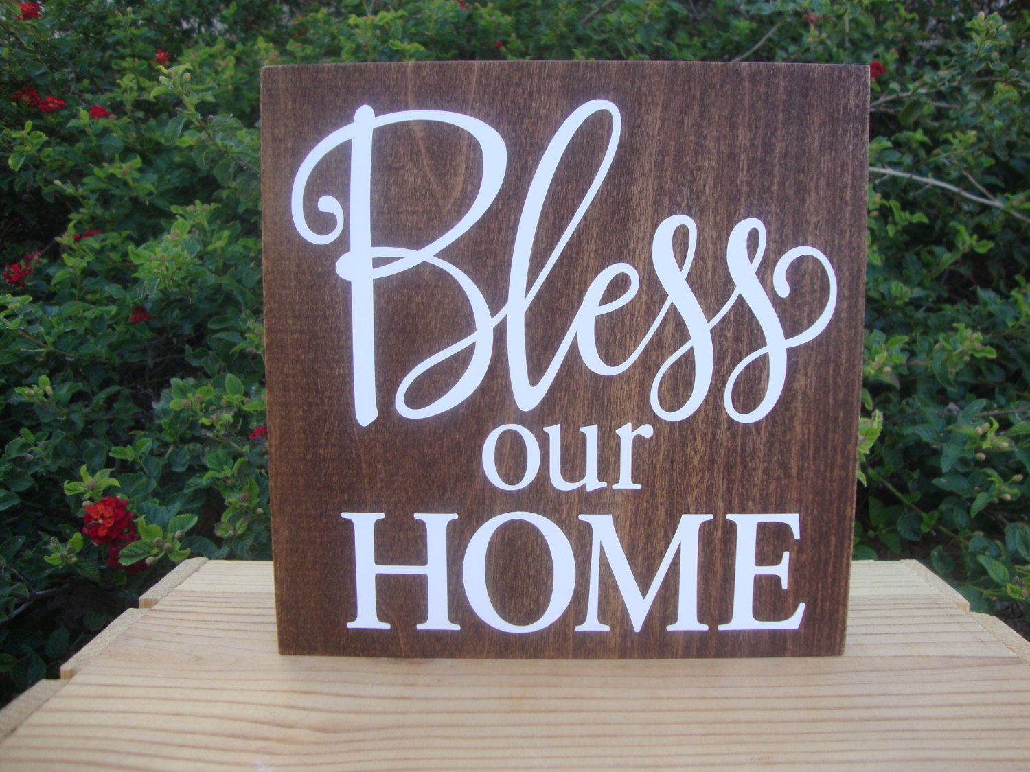 Bless Our Home Rustic Wall Decor Wooden Sign Signs For