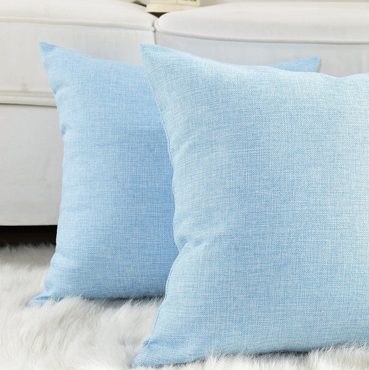 Baby Blue Pillows For Rent Frm Oc Brides Blue Pillows Blue Living Room Decor Light Blue Pillows