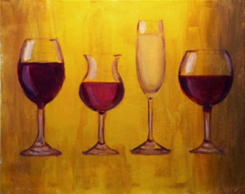 Paint Nite Cleveland | Game of Wickliffe formally Freeway lanes, Oct 26th, 2014