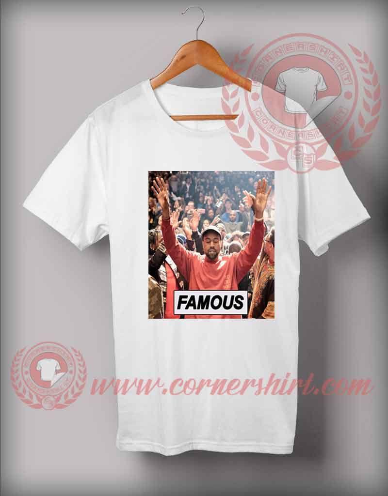Custom Shirt Design Kanye West Famous Custom Design T Shirts Custom Shirts Custom Design Shirts Custom Made T Shirts