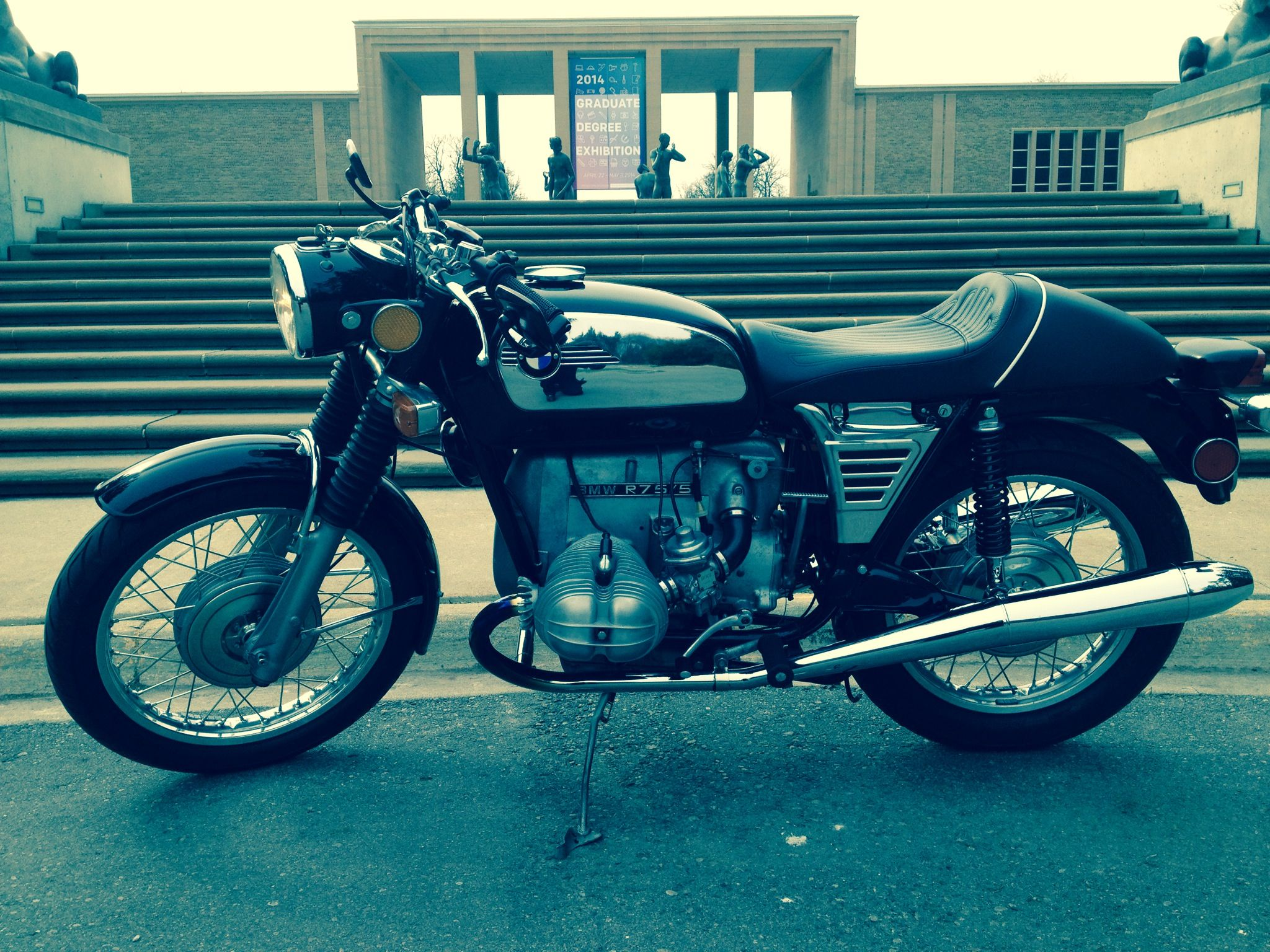 73 BMW R75/5 Toaster. Great classic bike. I restored this, got a stupid offer on it and sold it without thinking, I have regretted it every day since.