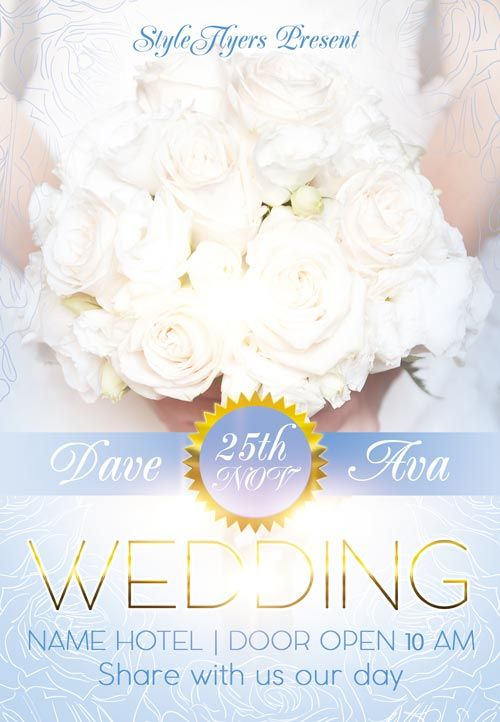 Wedding Party Free Flyer Template -    freepsdflyer - invitation flyer template