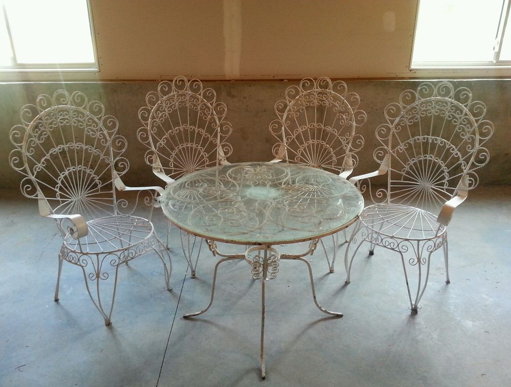 Small Wrought Iron Dining Set