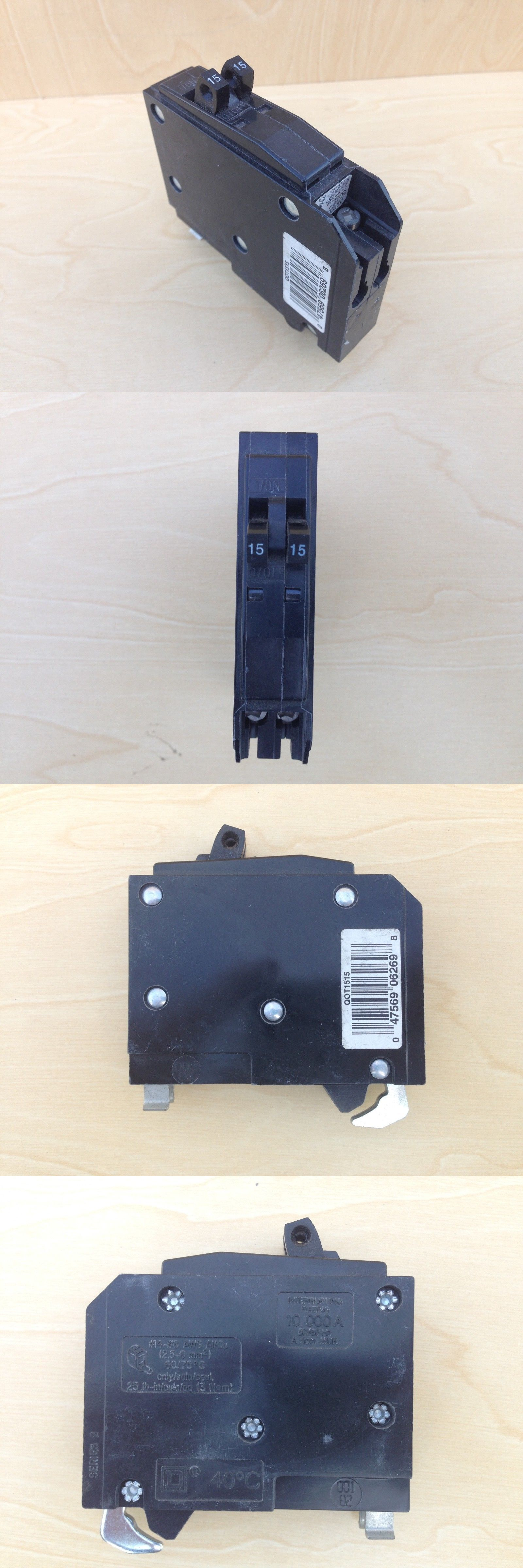 small resolution of circuit breakers and fuse boxes 20596 square d qot1515 qo 2 15 amp single pole tandem circuit breaker new buy it now only 11 49 on ebay circuit