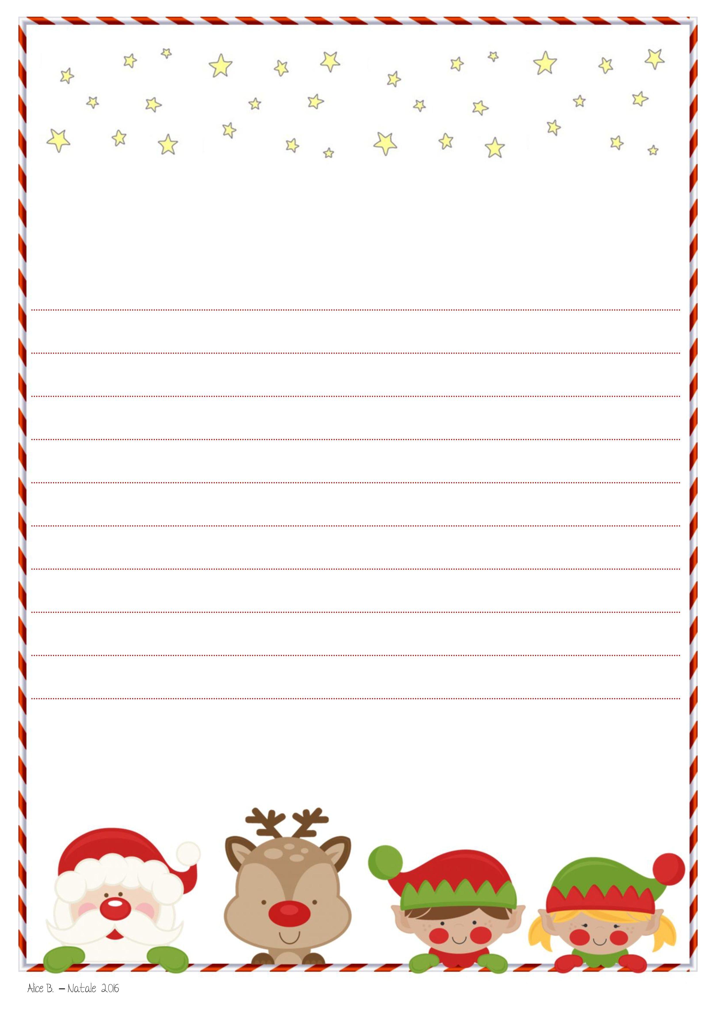 Letterina a Babbo Natale da stampare gratis Alice B