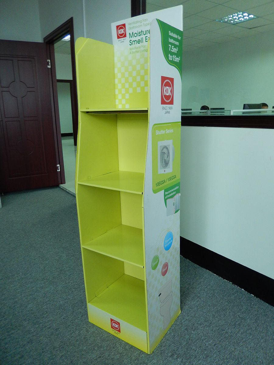 Cardboard Greeting Card Display Stand Free Standing Displays