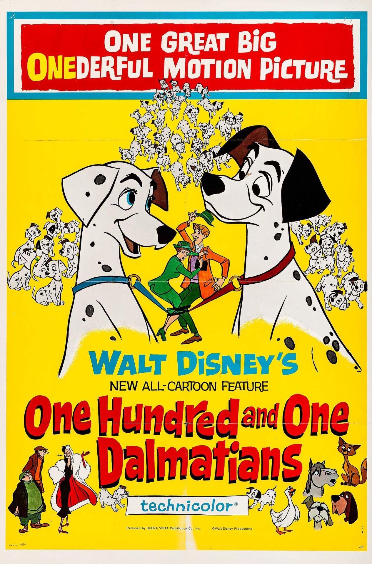 101 Dalmatas 101 Dalmatians De Wolfgang Reitherman Clyde Geronimi Y Hamilton Posteres De Disney De Epoca Carteles De Disney Animacion Disney