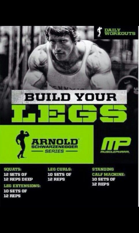 Daily workout arnold legs workout plan pinterest workout daily workout arnold legs malvernweather Choice Image