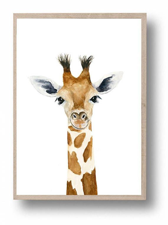 nursery prints safari nursery watercolour giraffe painting Giraffe Print