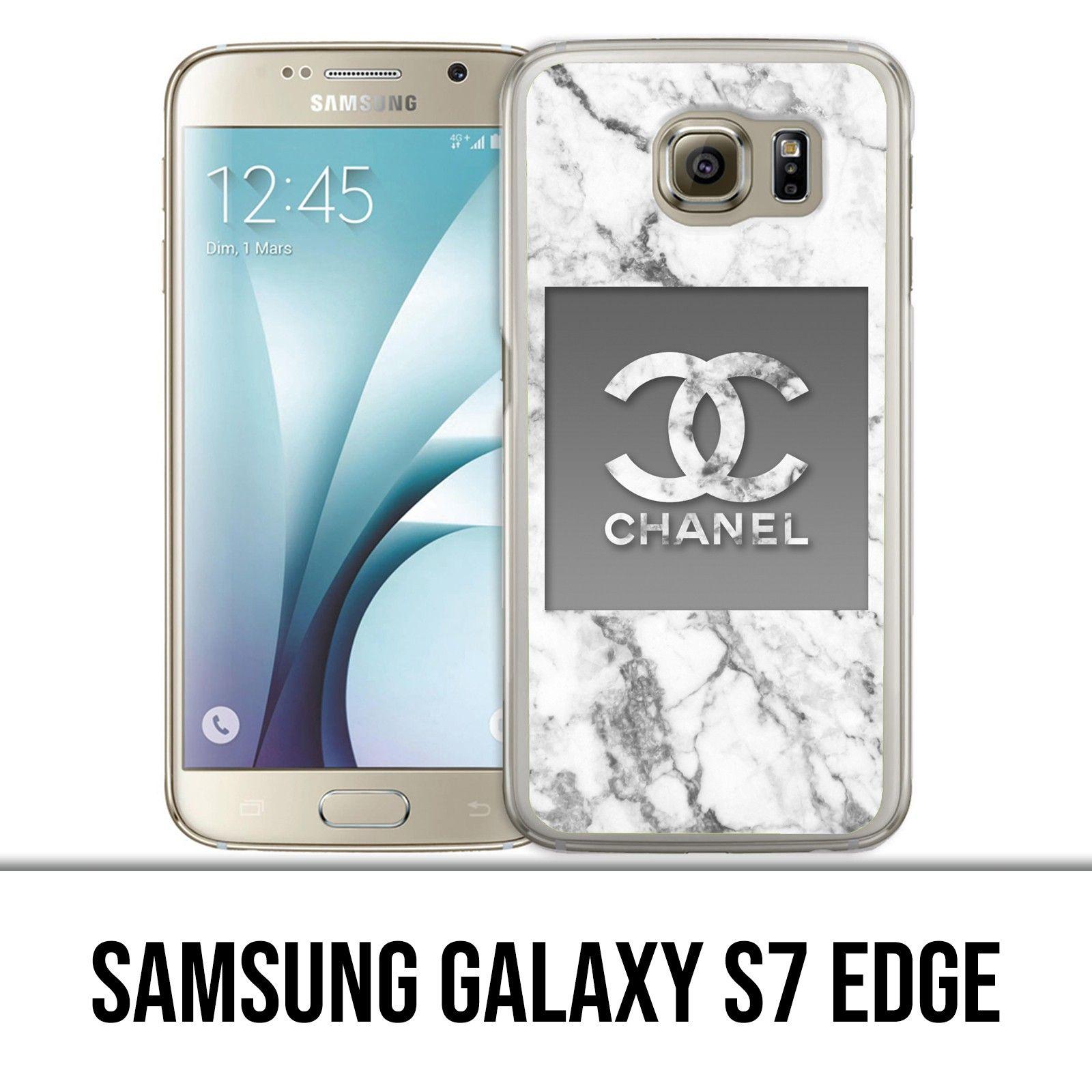 Coque Samsung Galaxy S7 edge - Chanel Marbre Blanc | Coque samsung ...