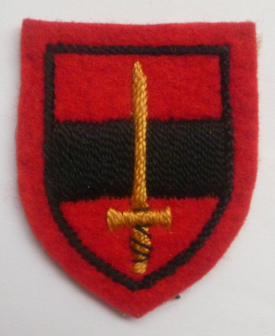 WW2 Territorial Army Troops Embroidered Sign Badge British